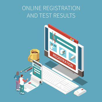 Online Test Result Composition