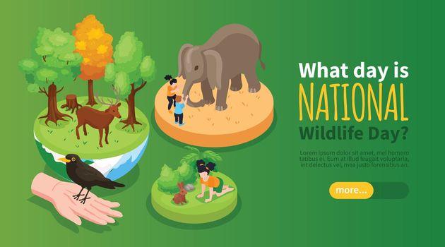 World Wildlife Day Horizontal Banner