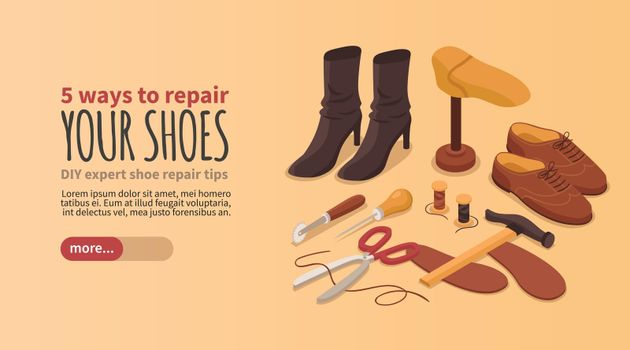 Shoes Repair Manufacturing Banner