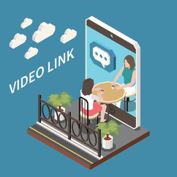 Video Link Isometric Composition