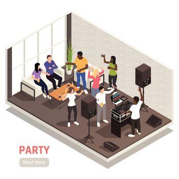 DJ Party Isometric View