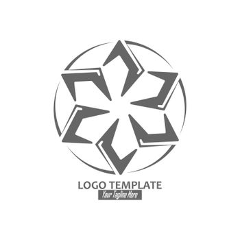 abstract icon, template for logo, emblem or brand, icon for banners, sites and applications. Simple style