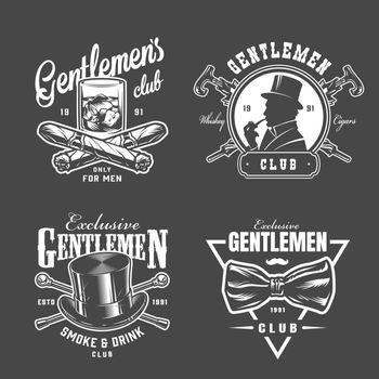 Vintage gentleman logos collection
