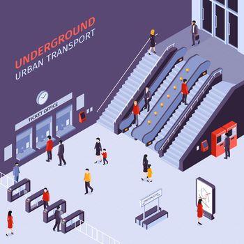 Subway Station Isometric View