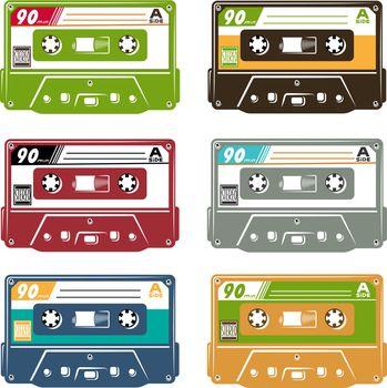 Set of tape cassette