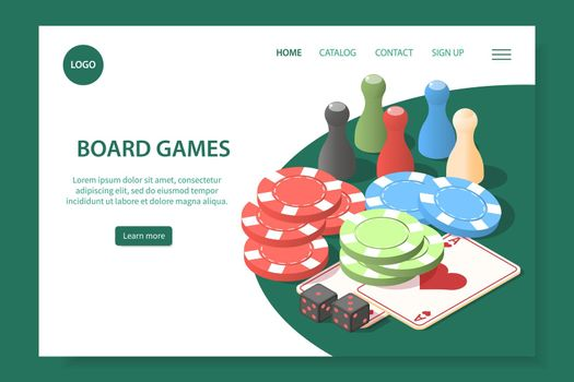 Board Games Landing Page
