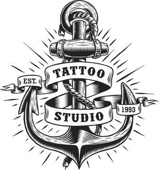 Vintage marine tattoo label