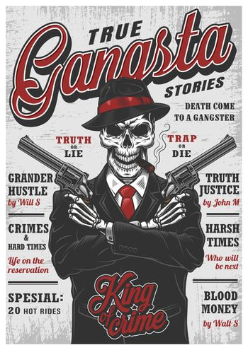 Gangsta skeleton magazine