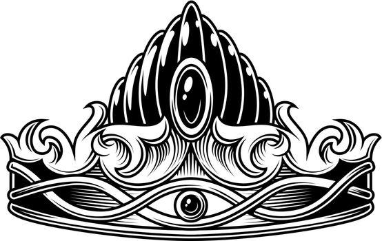 Monochrome vintage crown