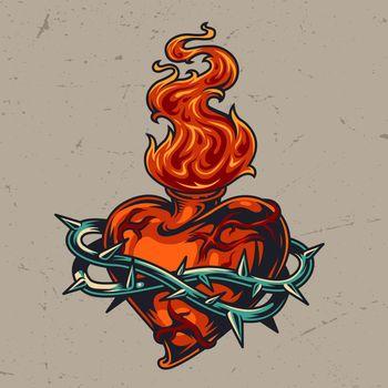 Red heart shaped bottle in wire
