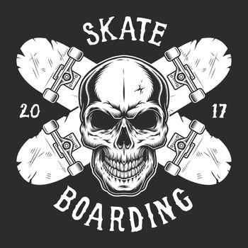 Vintage skateboarding logotype template