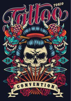 Vintage tattoo festival poster