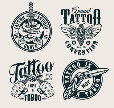 Vintage tattoo studio logos