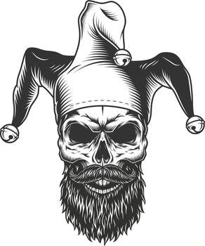 Skull in the jester hat