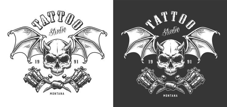 Tattoo saloon emblem