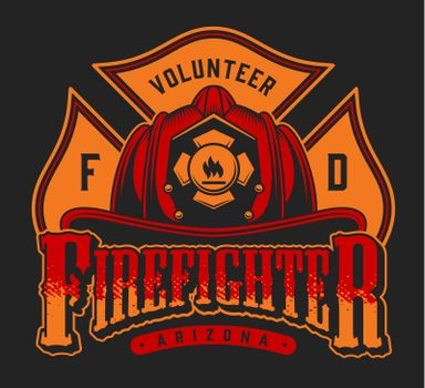 Colorful firefighter logotype