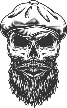 Skull in the tweed hat.