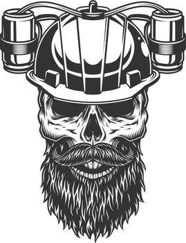 skull in the beer helmet