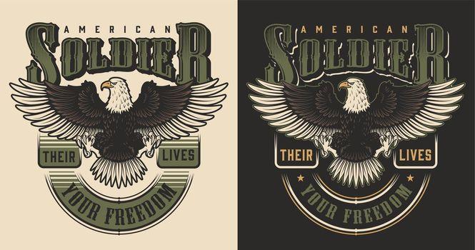 Military t-shirt print concept
