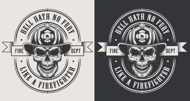 Monochrome fireman prints template