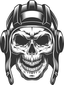 Skull in the tank helmet