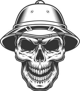 Skull in the safari hat