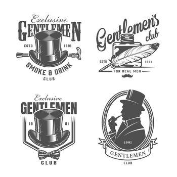 Vintage monochrome gentleman logos