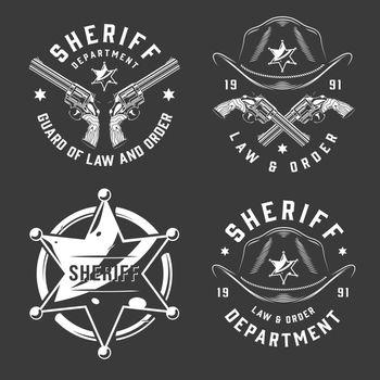 Monochrome vintage emblems