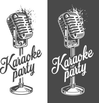 Karaoke banner with grunge effect