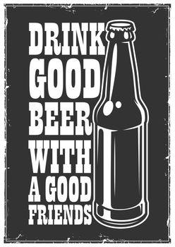 Typographic beer poster
