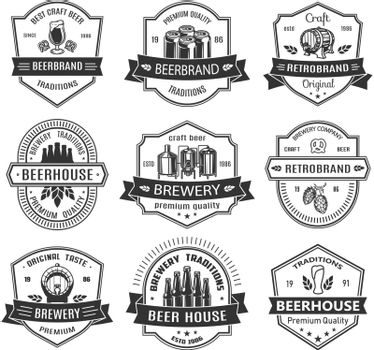 Set badges with beer objects