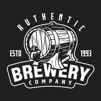 Vintage brewery company white logo