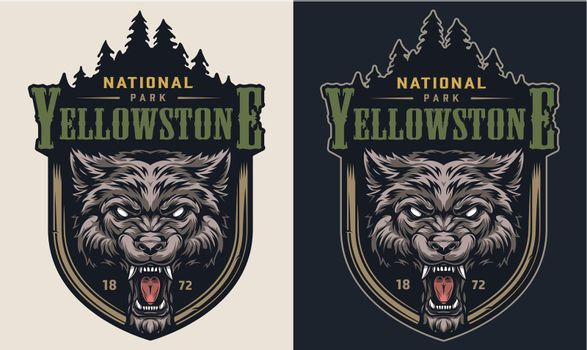 Colorful national park vintage logotype
