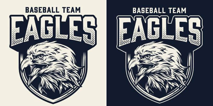 Baseball team monochrome logo