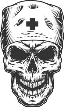 skull in doctor mask