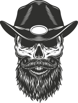Skull in the sheriff cap