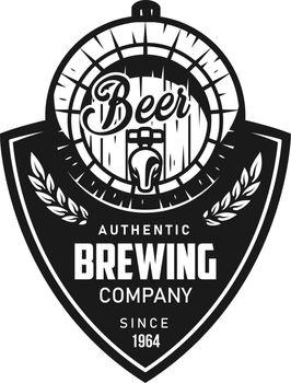 Vintage brewing black logotype