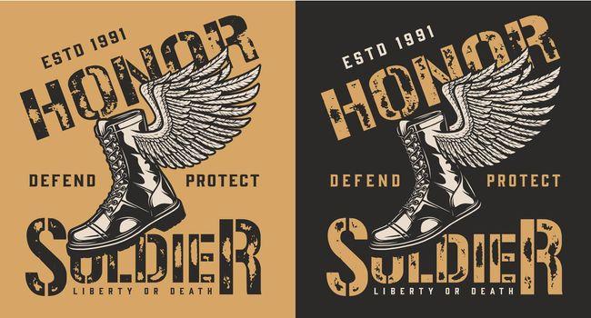 Military brand emblem