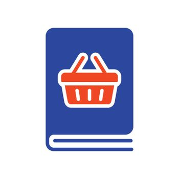 Catalog product outline vector flat glyph icon