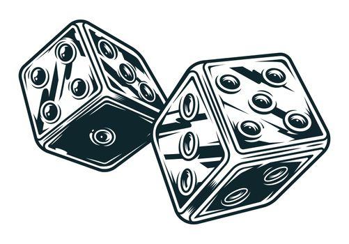Vintage original dices concept