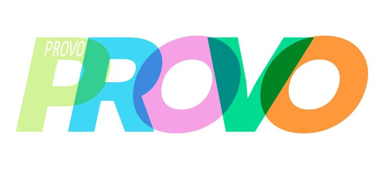 PROVO. The name of the city on a white background. Vector design template for poster, postcard, banner. Vector illustration.