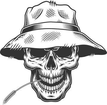 Skull in the straw hat