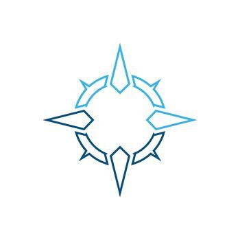 Compass logo  signs and symbols vector