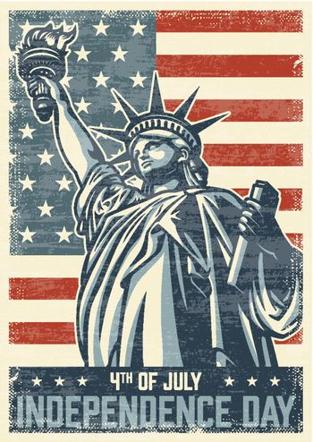 4th of july vintage poster