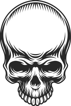 Retro vintage skull