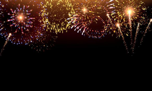 Pyrotechnics And Fireworks Background