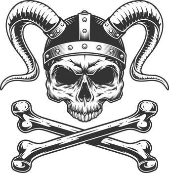 Viking skull without jaw