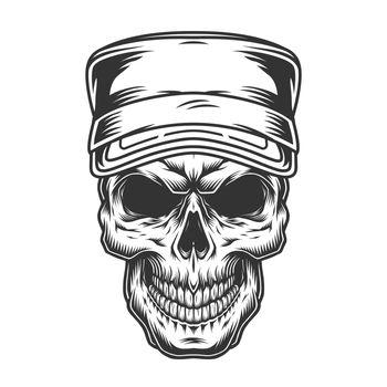 Skull in military cap