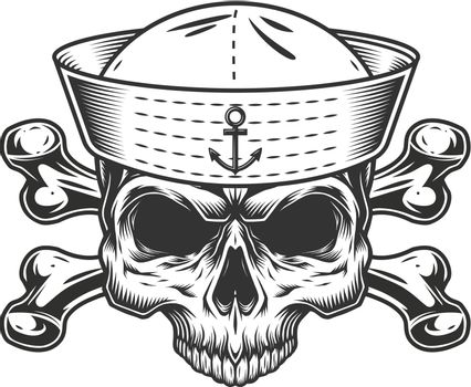 Vintage mariner skull without jaw