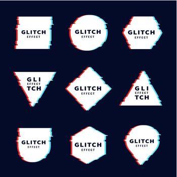Glitch effect for frame